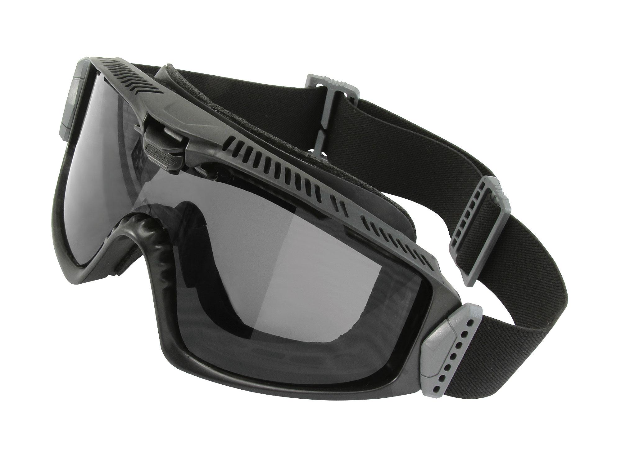 EE7018-09フレーム:ブラック レンズ:クリアー・スモークグレイ