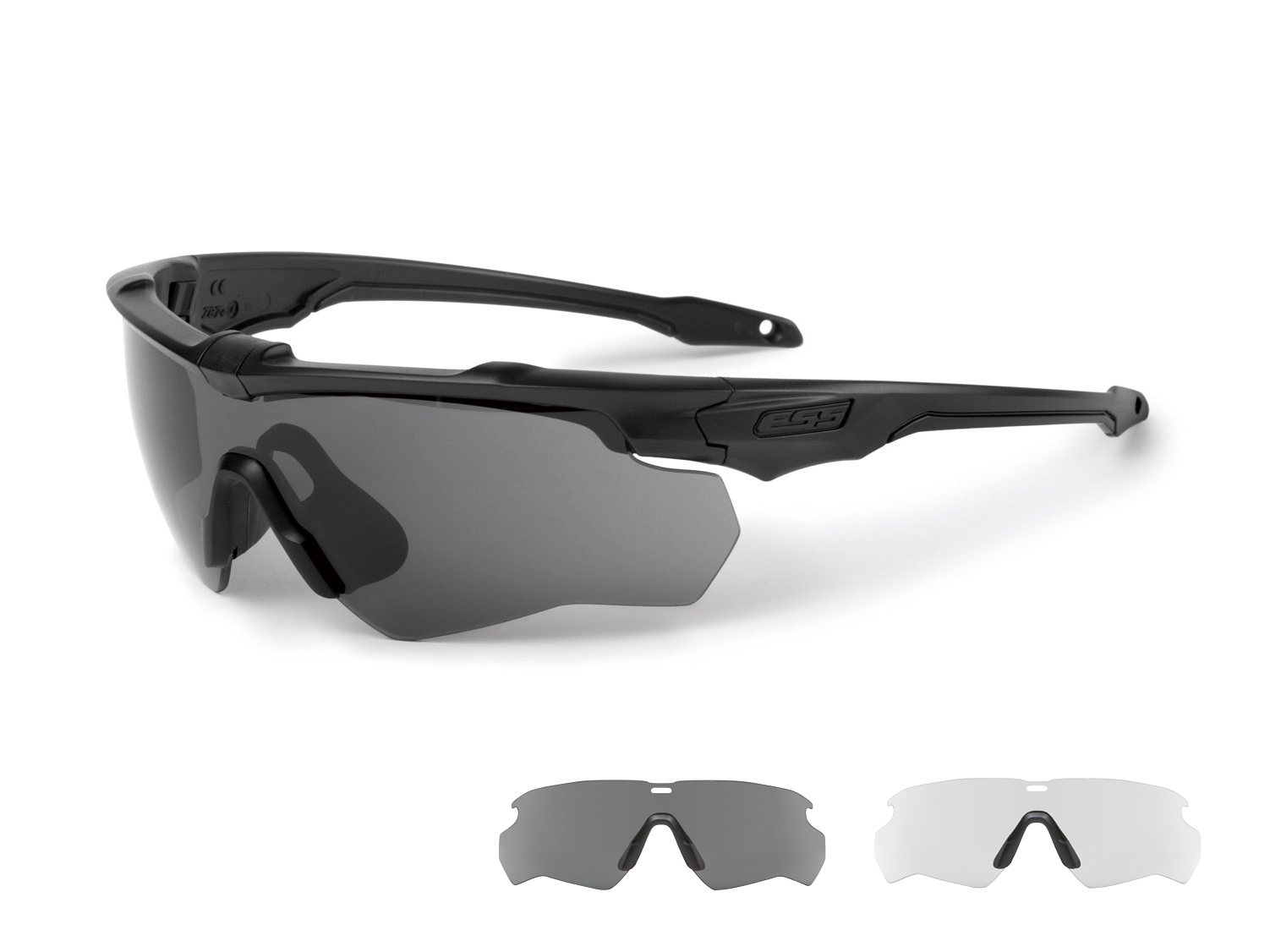 EE9032-02フレーム:ブラック レンズ:クリアー・スモークグレイ