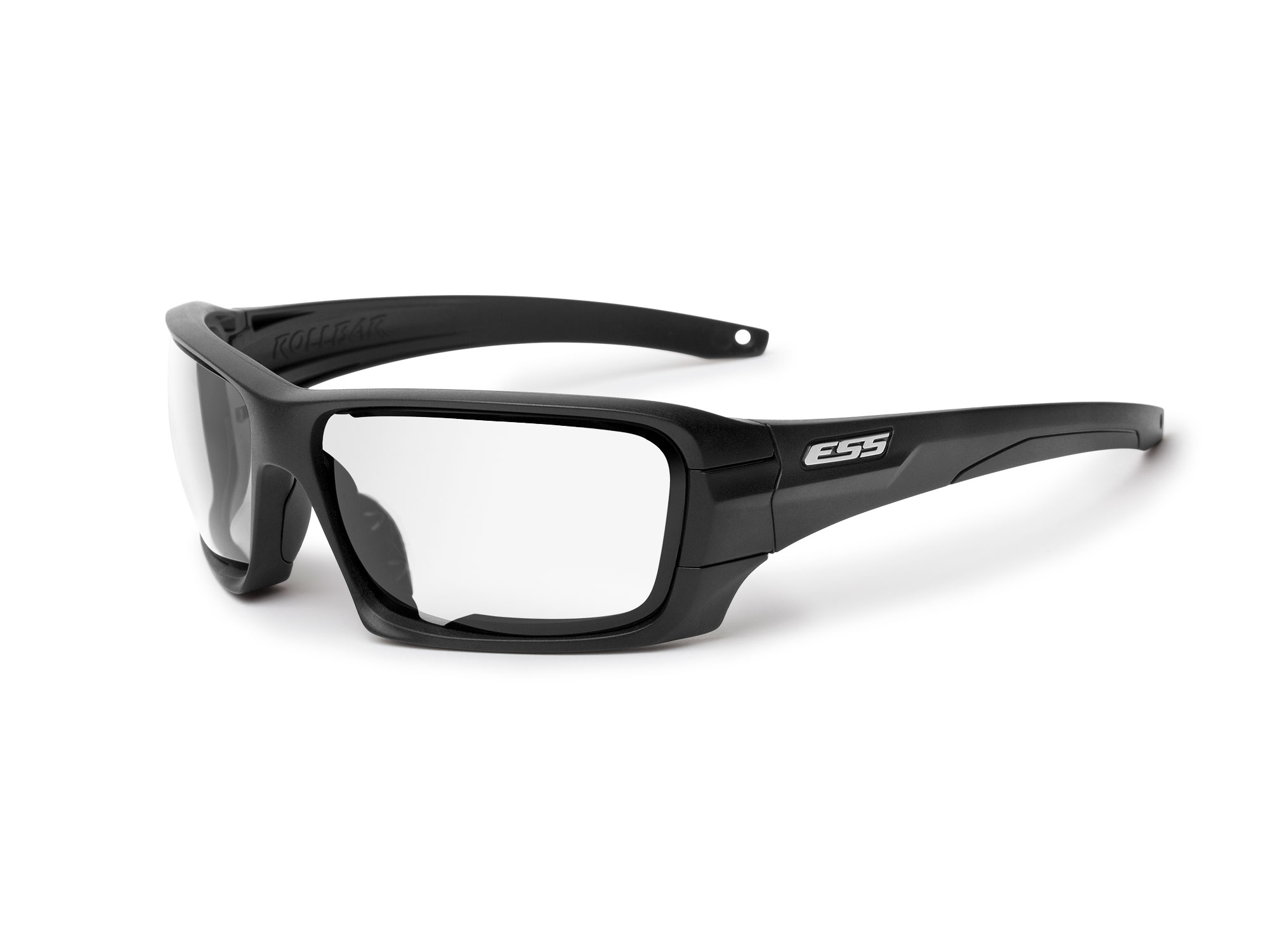 EE9018-03 フレーム:ブラック、レンズ:クリアー、スモークグレイ / シルバーLOGO