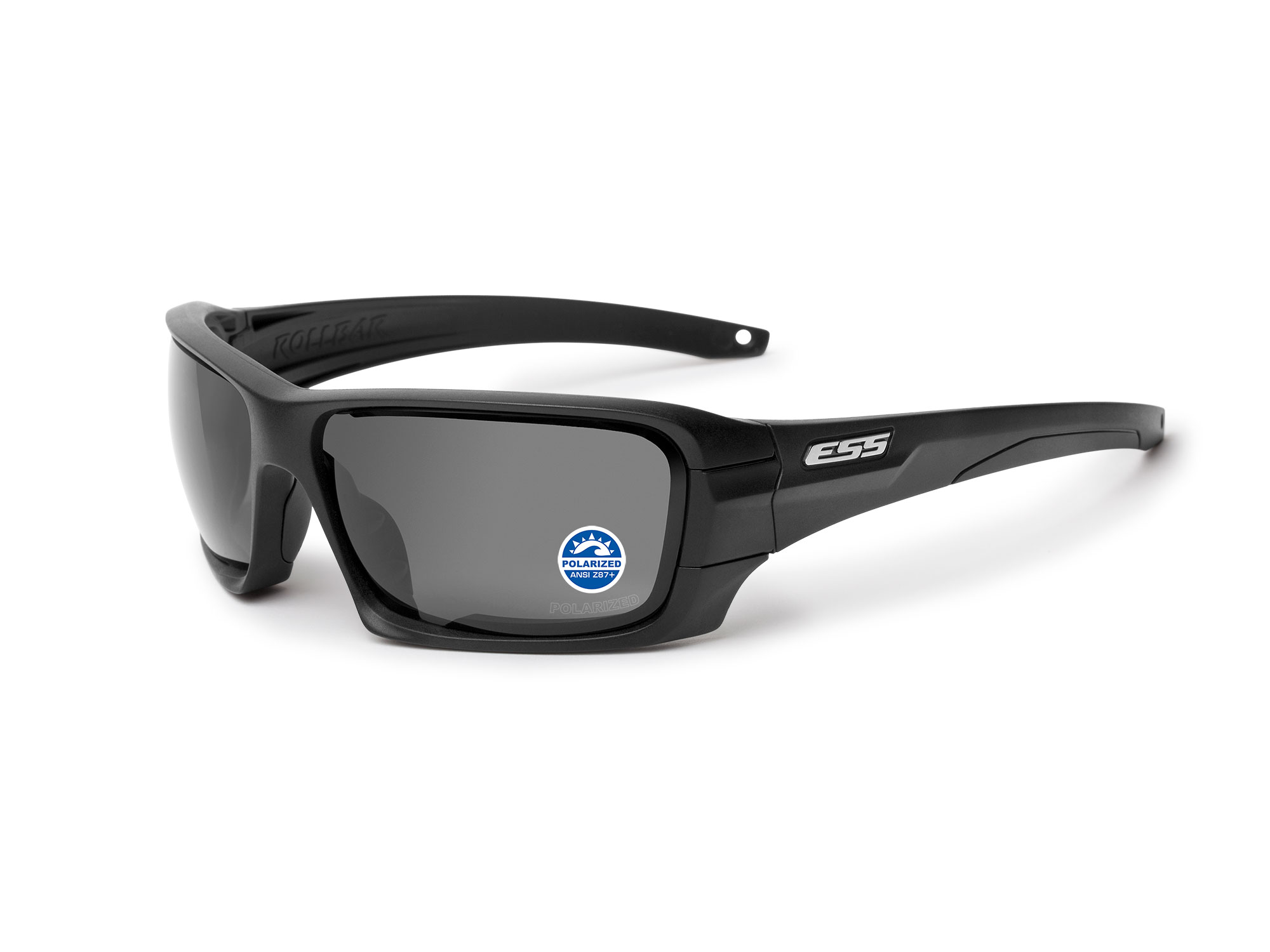 EE9018-04 フレーム:ブラック、レンズ:偏光ミラーグレイ / シルバーLOGO